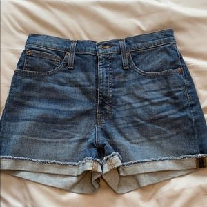 JCREW jean shorts - cuffed and never worn